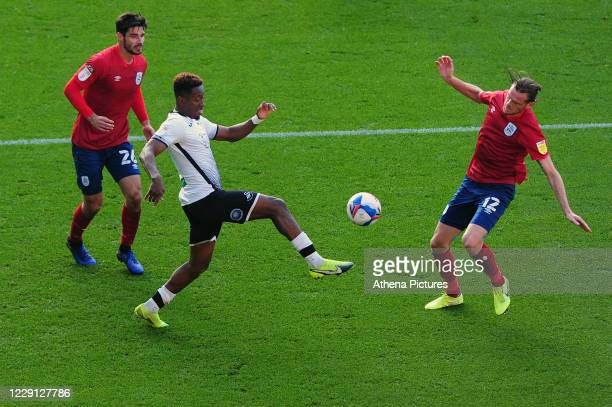Jamal Lowe of Swansea City in action during the Sky Bet Championship match between Swansea City and Huddersfield Town at the Liberty Stadium on...