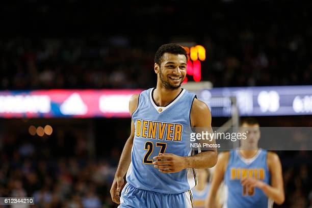 Jamal Murray is seen against the Toronto Raptors on October 3 2016 at the Scotiabank Saddledome in Calagary Alberta Canada NOTE TO USER User...