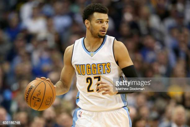 0f76ff573 Jamal Murray of the Denver Nuggets brings the ball down the court against  the Golden State