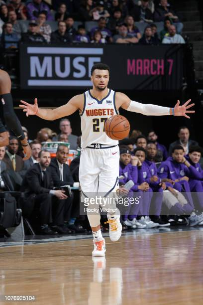 9846dcf15 Jamal Murray of the Denver Nuggets dribbles up court against the Sacramento  Kings on January 3