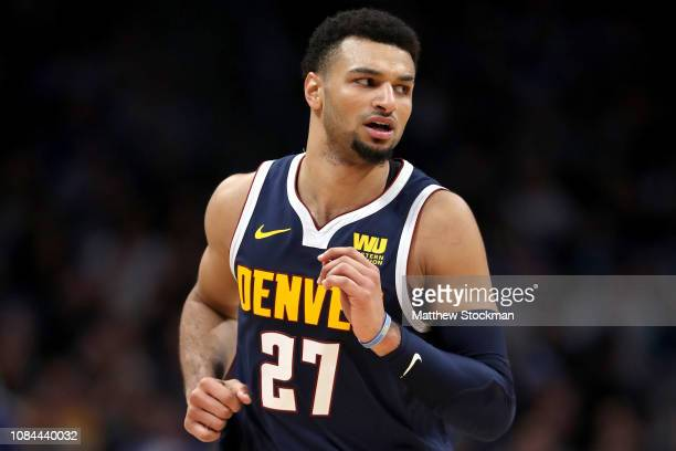 Jamal Murray of the Denver Nuggets plays the Dallas Mavericks at the Pepsi Center on December 18 2018 in Denver Colorado NOTE TO USER User expressly...