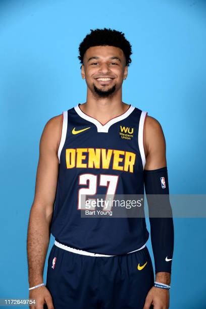 Jamal Murray of the Denver Nuggets poses for a head shot during media day on September 30, 2019 at the Pepsi Center in Denver, Colorado. NOTE TO...
