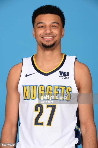 Jamal Murray of the Denver Nuggets poses for a head shot during Media Day on September 25 2017 at the Pepsi Center in Denver Colorado NOTE TO USER...