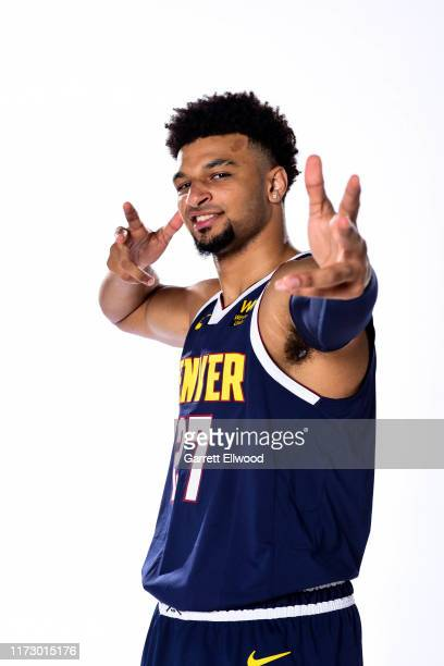 Jamal Murray of the Denver Nuggets poses for a portrait during media day on September 30, 2019 at the Pepsi Center in Denver, Colorado. NOTE TO USER:...