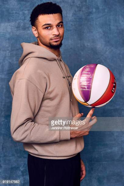Jamal Murray of the Denver Nuggets poses for portraits during the NBAE Circuit as part of 2018 NBA AllStar Weekend on February 16 2018 at the JW...