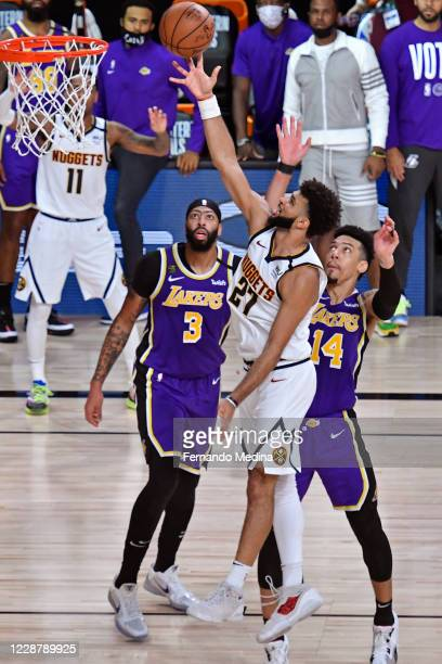 Jamal Murray of the Denver Nuggets shoots the ball against the Los Angeles Lakers during Game Five of the Western Conference Finals of the NBA...