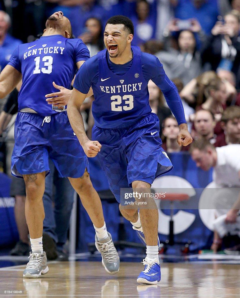 Jamal Murray: Jamal Murray Of The Kentucky Wildcats Celebrates After The