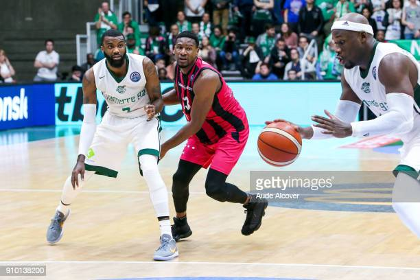 Jamal Schuler of Nanterre and Yorman Polas Bartolo of Bonn during the Basket ball Champions League match between Nanterre and Bonn on January 24 2018...