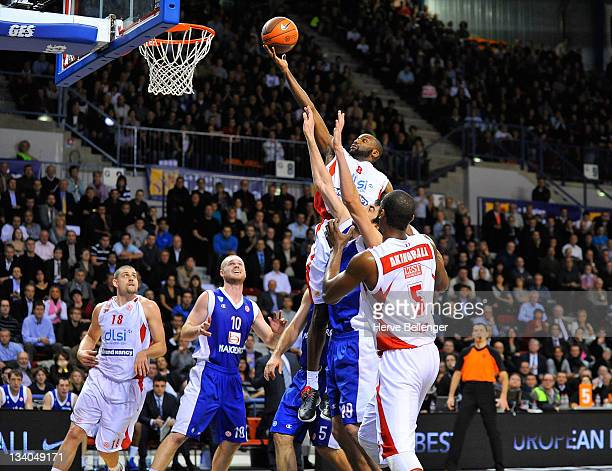 Jamal Shuler, #8 of Sluc Nancy in action during the 2011-2012 Turkish Airlines Euroleague Regular Season Game Day 6 between Sluc Nancy Basket v...