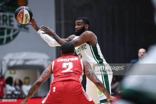 Jamal Shuler of Nanterre during the Pro A match between Nanterre 92 and Monaco on January 21 2018 in Nanterre France