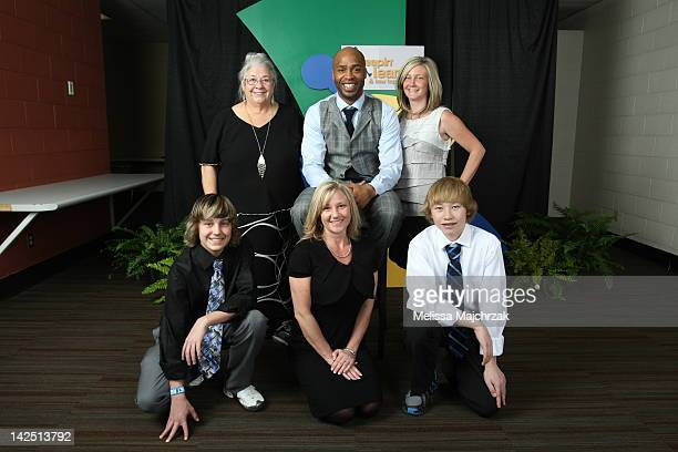 Jamal Tinsley of the Utah Jazz poses for a photo during the annual Leapin' Leaners and Low Tops the charity event to raise money for the Larry H...