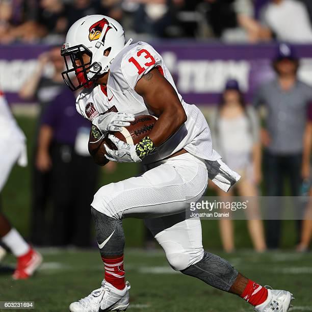 Jamal Towns of the Illinois State Redbirds runs against the Northwestern Wildcats at Ryan Field on September 10, 2016 in Evanston, Illinois....