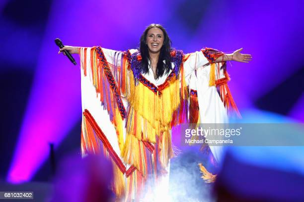 Jamala winner of 2016 performs during the first semi final of the 62nd Eurovision Song Contest at International Exhibition Centre on May 9 2017 in...