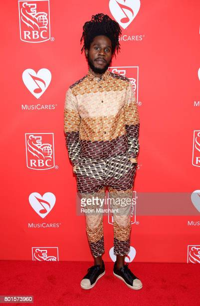 Jamar 'Chronixx' McNaughton attends 13th Annual Musicares MAP Fund Benefit Concert Honoring Adam Clayton at PlayStation Theater on June 26 2017 in...
