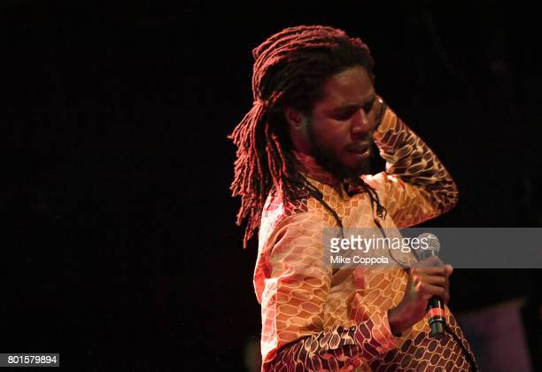 Jamar McNaughton aka Chronixx performs on stage during the 13th Annual MusiCares MAP Fund Benefit Concert at the PlayStation Theater on June 26 2017...