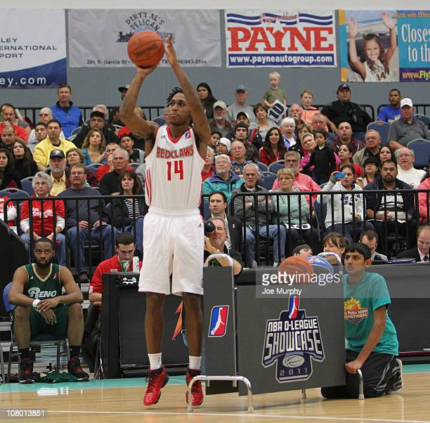 Jamar Smith of the Maine Red Claws shoots the ball during the 3 Point Shooting Contest during the 2011 NBA DLeague Showcase Slam Dunk and 3 Point...