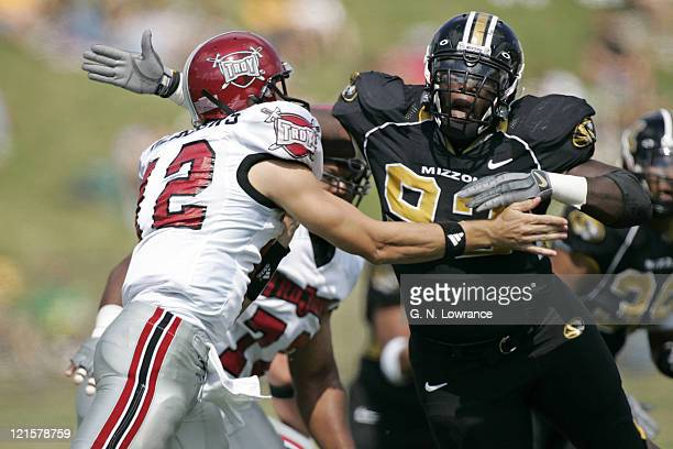 Jamar Smith of the Missouri Tigers during a game against the Troy Trojans at Memorial Stadium in Columbia, Missouri on September 17th, 2005. Missouri...