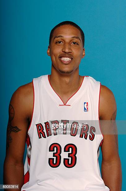 Jamario Moon of the Toronto Raptors poses for a portrait during NBA Media Day on September 29th 2008 at the Air Canada Centre in Toronto Canada NOTE...