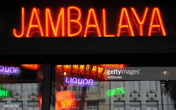 jambalaya - new orleans french quarter stock photos and pictures