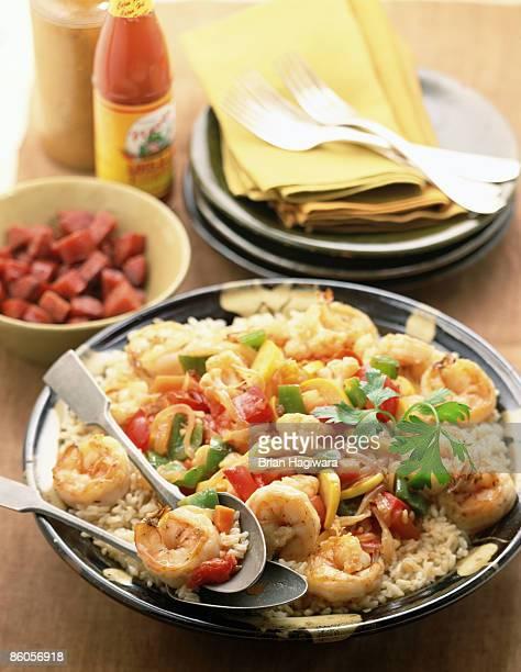jambalaya - cajun food stock pictures, royalty-free photos & images