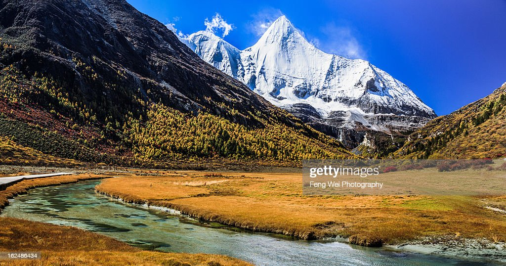 Jambeyang Yading Nature Reserve Sichuan China High-Res Stock Photo