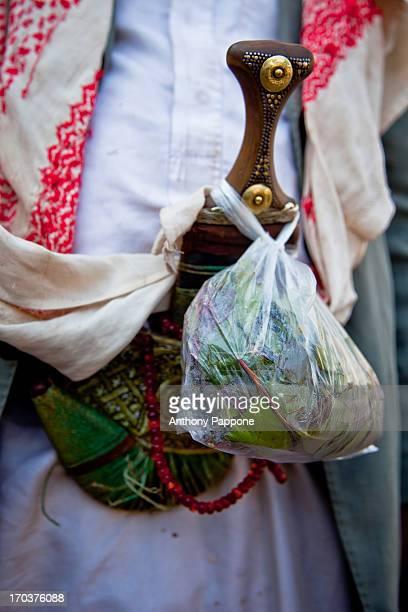 CONTENT] Jambiya with bag of qat sana'a yemen