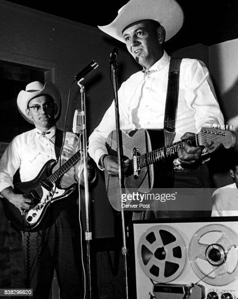 Jamboree for Vietnam Jim Peters right leads his 'Western Ramblers' during a tape recording session Thursday night at which four country and western...