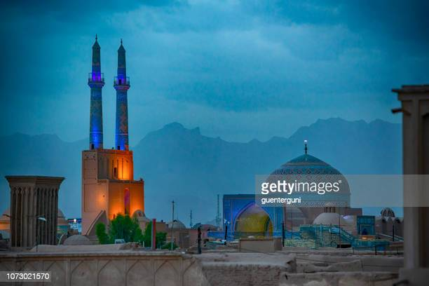 jame (or friday) mosque, yazd, iran - iranian culture stock pictures, royalty-free photos & images