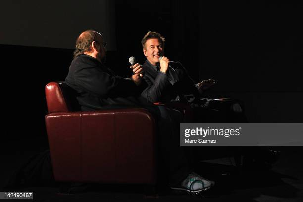 Jame Taback and Alec Baldwin attend the Last Tango in Paris screening at The Film Society of Lincoln Center Walter Reade Theatre on April 5 2012 in...