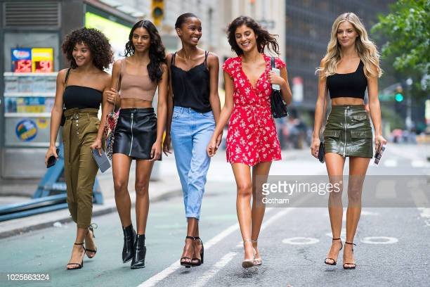 Jamea Lynee Mileshka Cortes Isilda Moreira Danielle Knudson and Shani Zigron attend casting for the 2018 Victoria's Secret Fashion Show in Midtown on...