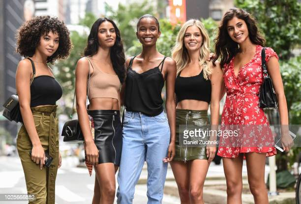 Jamea Lynee Mileshka Cortes Isilda Moreira Danielle Knudson and Shani Zigron attend the casting for the 2018 Victoria's Secret Fashion Show in...