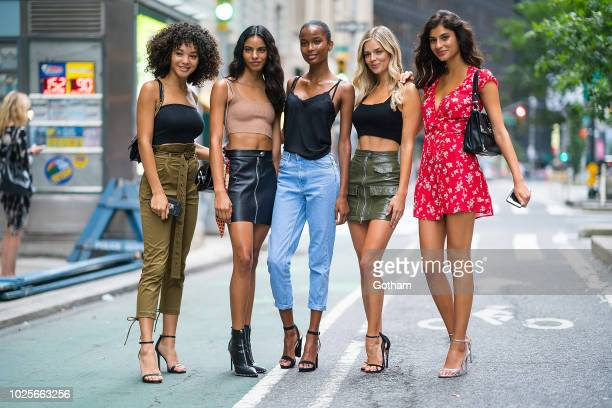 Jamea Lynee Mileshka Cortes Isilda Moreira Shani Zigron and Danielle Knudson attend casting for the 2018 Victoria's Secret Fashion Show in Midtown on...