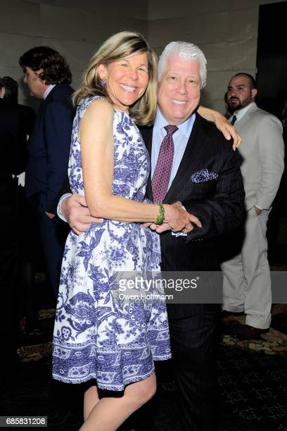 Jamee Gregory and Dennis Basso attend The Boys' Club of New York Annual Awards Dinner at Mandarin Oriental on May 17 2017 in New York City