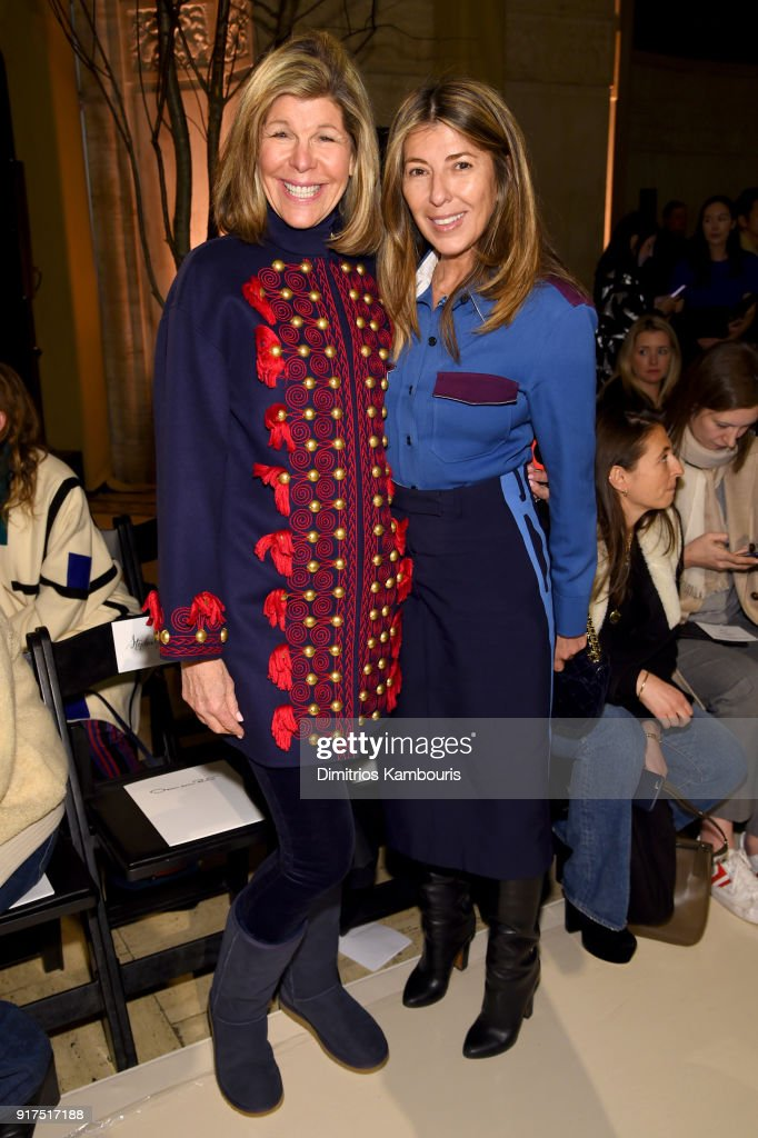 Jamee Gregory and Nina García attend the Oscar De La Renta fashion show during New York Fashion Week: The Shows at The Cunard Building on February 12, 2018 in New York City.