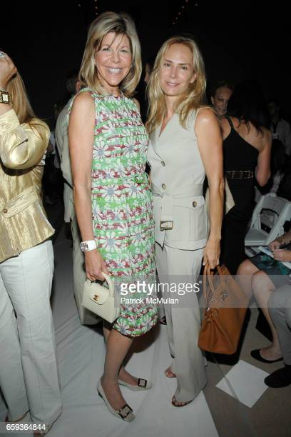 Jamee Gregory and Valesca Guerrand Hermes attend DENNIS BASSO SPRING/SUMMER 2010 Collection at Bryant Park Tents on September 15 2009 in New York City