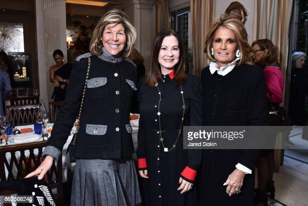 Jamee Gregory Judith Giuliani and Grace Meigher attend QUEST VHERNIER Host Luncheon at MAJORELLE at Majorelle on October 17 2017 in New York City