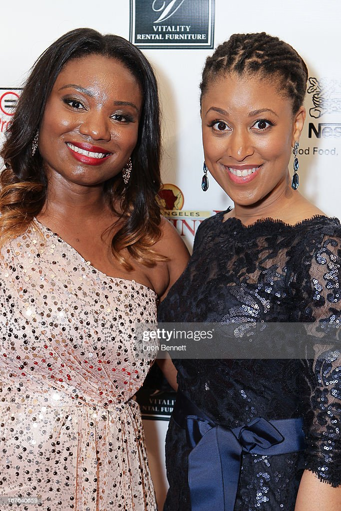Jameeka Green Aaron and Brandy Richard arrived at the LA Urban League Young Professionals 3rd Annual To The Nines After Party at The Beverly Hilton Hotel on April 26, 2013 in Beverly Hills, California.