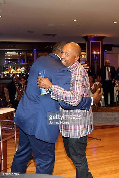Jameel McClain and Kevin Liles attend The 56th Anniversary Founders Gala at The Surf Club on May 29 in New Rochelle City