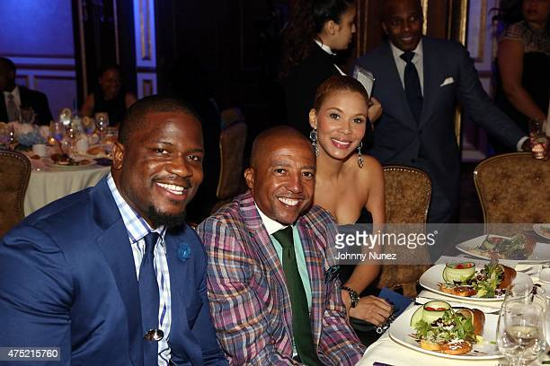 Jameel McClain Kevin Liles and Erika Liles attend The 56th Anniversary Founders Gala at The Surf Club on May 29 in New Rochelle City