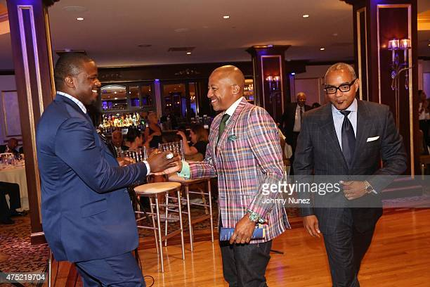 Jameel McClain Kevin Liles and Nelson Boyce attend The 56th Anniversary Founders Gala at The Surf Club on May 29 in New Rochelle City