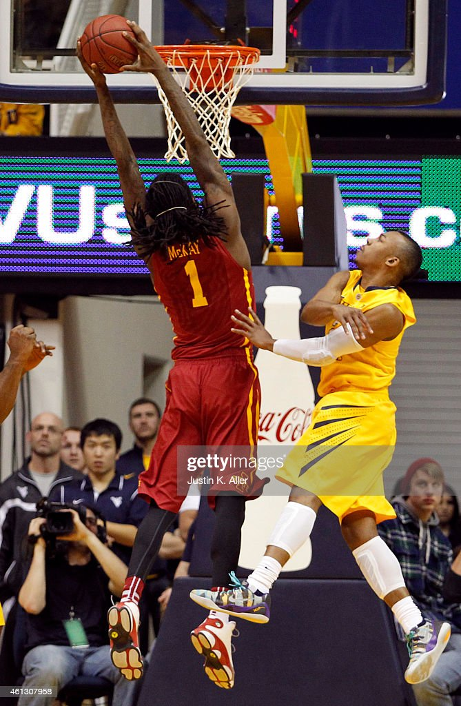 Jameel McKay of the Iowa State Cyclones dunks the ball ...