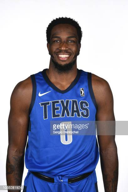 Jameel Warney of the Texas Legends poses for a head shot during the NBA GLeague media day at Dr Pepper Arena in Frisco Texas NOTE TO USER User...