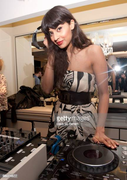 Jameela attends the opening of designer Malene Birger's first UK boutique on March 24 2010 in London England