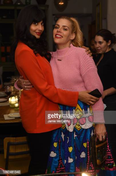 Jameela Jamil and Busy Phillips attend Aerie Celebrates #AerieREAL Role Models In NYC on January 31 2019 in New York City