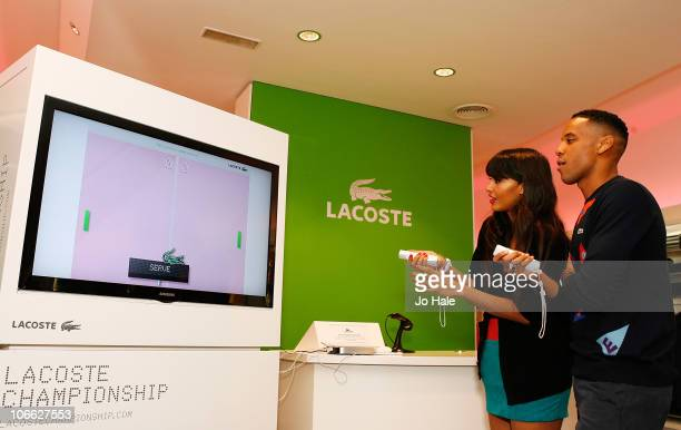 Jameela Jamil and Reggie Yates launch the 'LACOSTE CHAMPIONSHIP' a brand new online video game which goes live in the UK next week at The Lacoste...