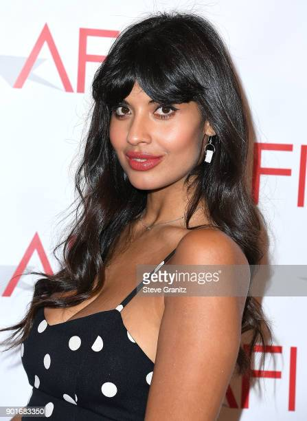 Jameela Jamil arrives at the 18th Annual AFI Awards on January 5 2018 in Los Angeles California