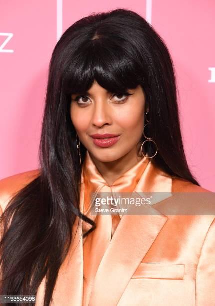 Jameela Jamil arrives at the 2019 Billboard Women In Music at Hollywood Palladium on December 12 2019 in Los Angeles California