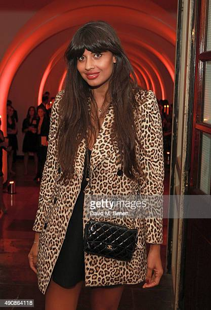 Jameela Jamil attends a fundraising event in aid of the Nepal Youth Foundation hosted by David Walliams at Banqueting House on October 1 2015 in...