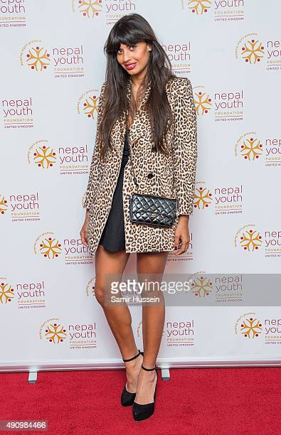 Jameela Jamil attends a fundraising event in aid of the Nepal Youth Foundation at Banqueting House on October 1 2015 in London England