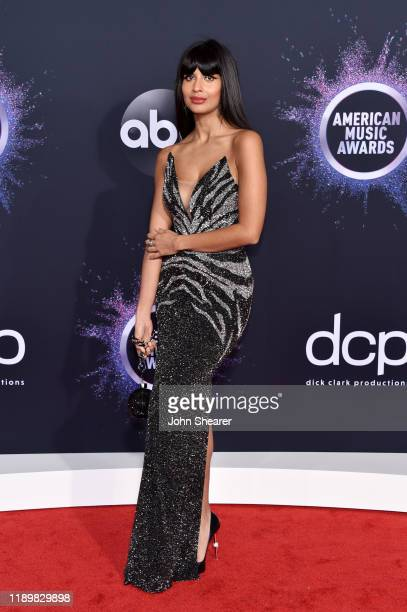 Jameela Jamil attends the 2019 American Music Awards at Microsoft Theater on November 24 2019 in Los Angeles California
